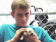 HSA kid with pup 2